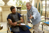 Ridley Scott and Christian Bale in 'Exodus: Gods and Kings'
